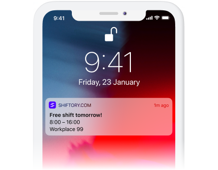 Send employees notifications that shifts are available